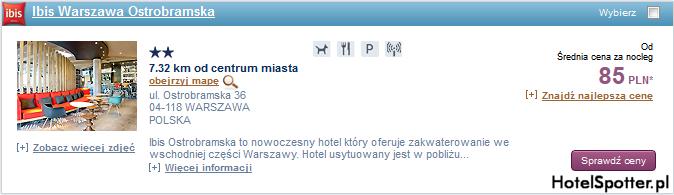 Tanie hotele Accor - Warszawa Polska