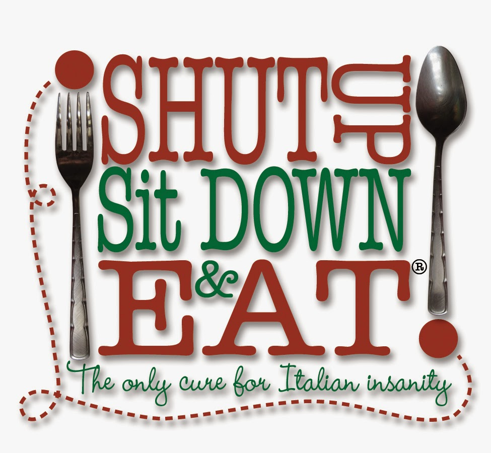 SHUT UP SIT DOWN AND EAT logo