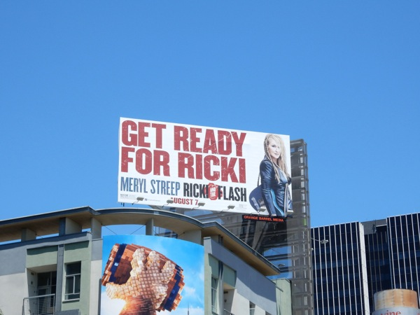 Ricki and the Flash film billboard