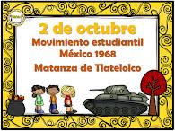 2 de octubre. Matanza de Tlatelolco