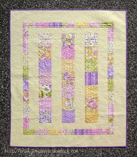 Eden Baby Quilt, front view