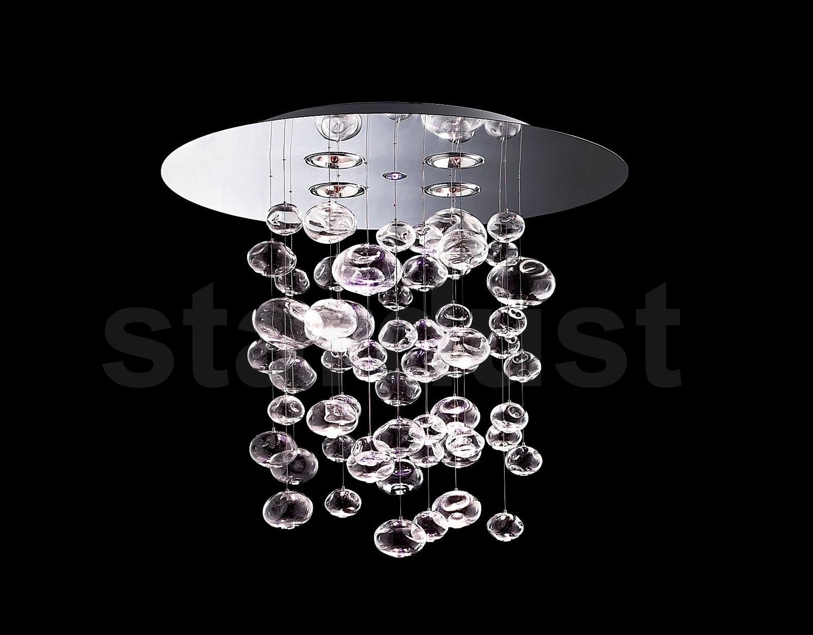 "25 5 8"" Italian modern ETHER S 90 Italian Glass Drop Light"