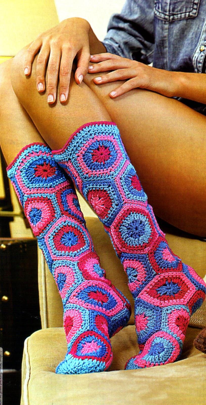 Вязание крючком сапожек и носков