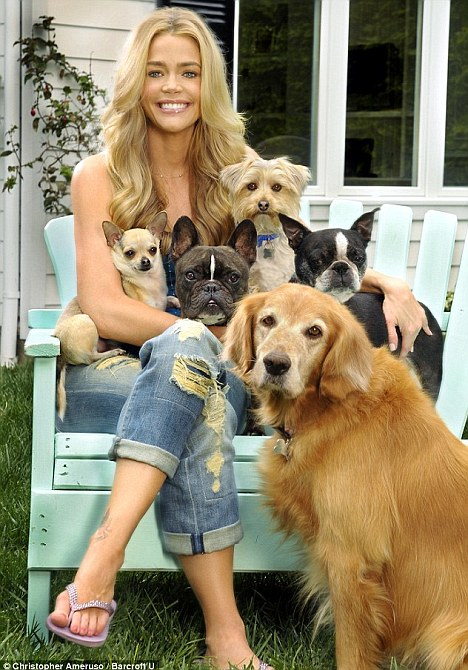 charlie sheen wife denise richards. Dog lover: Richards and a