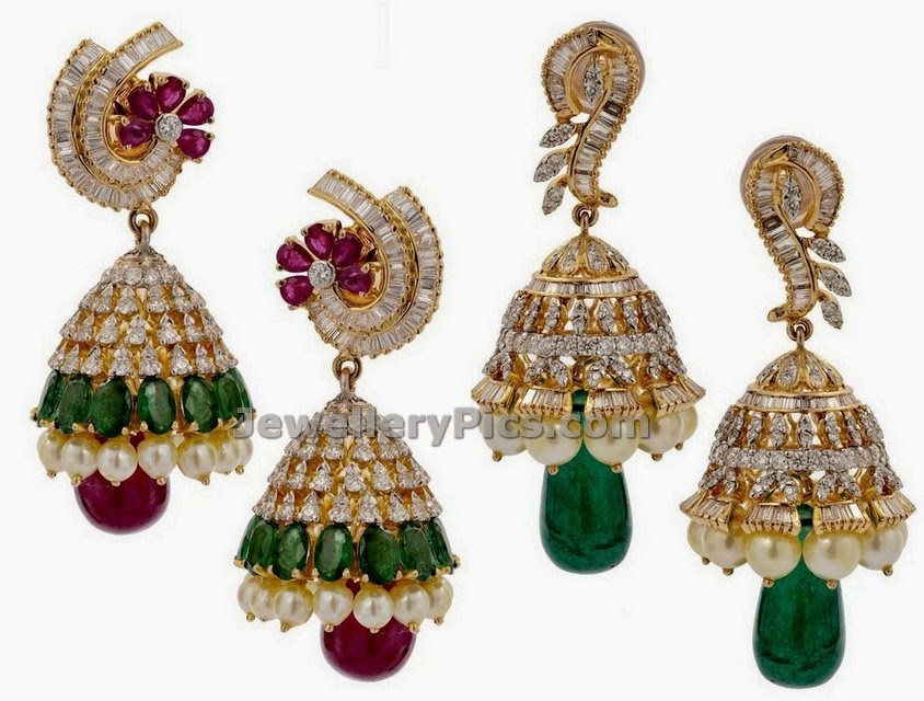 vaibhav jewellers diamond jhumkas