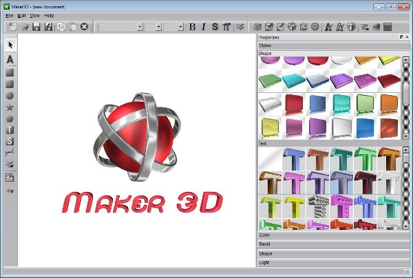 Aurora 3d text for 3d design software free online