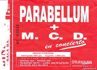 entrada de concierto de parabellum
