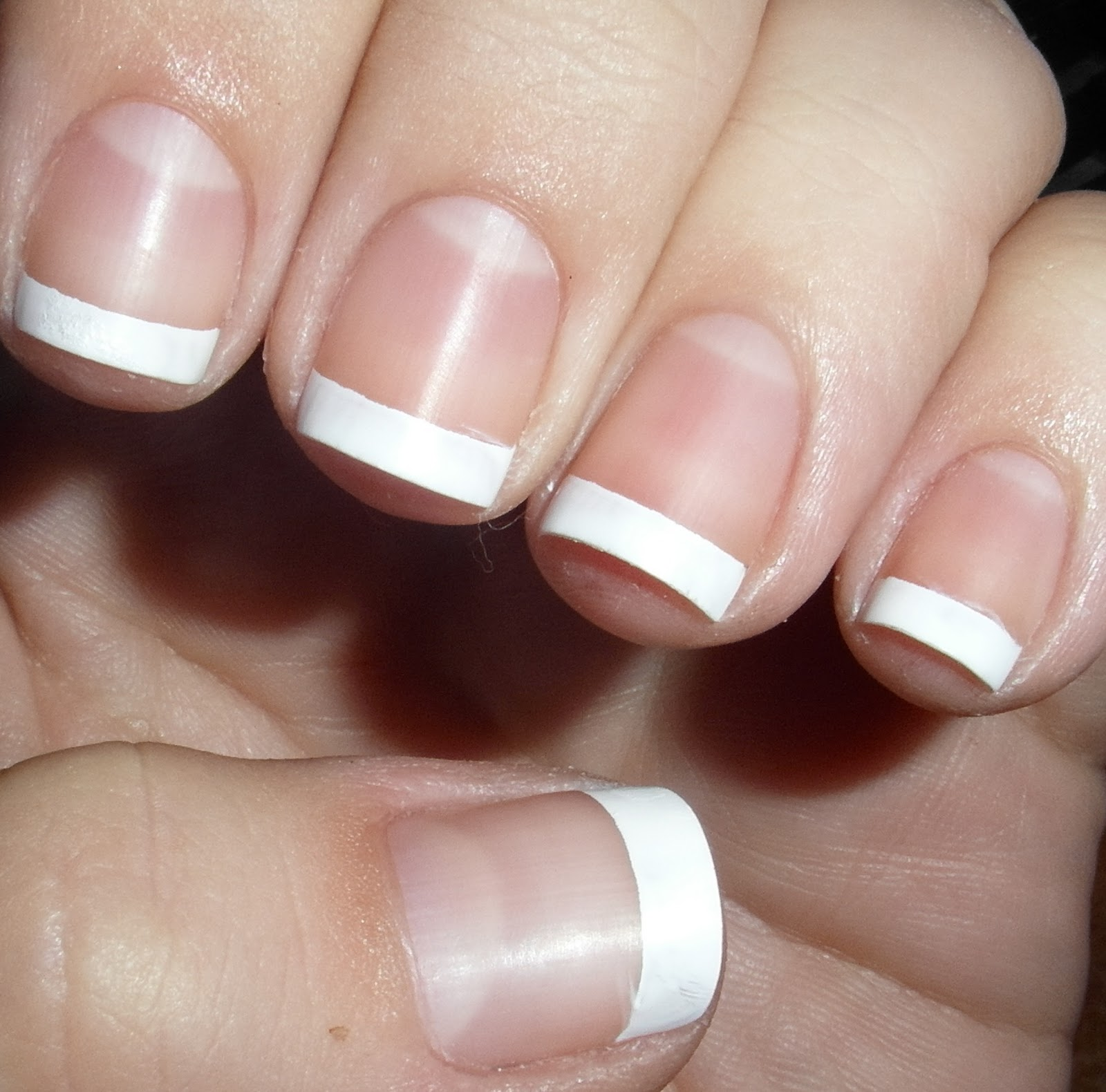 hotpinkaurora: Classic French Manicure + How to Tips