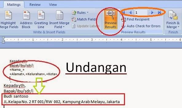 ... mail merge kita dapat menggunakan menu Finish & Merge pada tab menu
