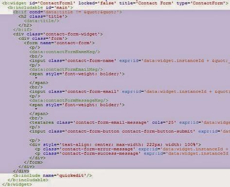 Thêm Contact Form Page cho Blogspot