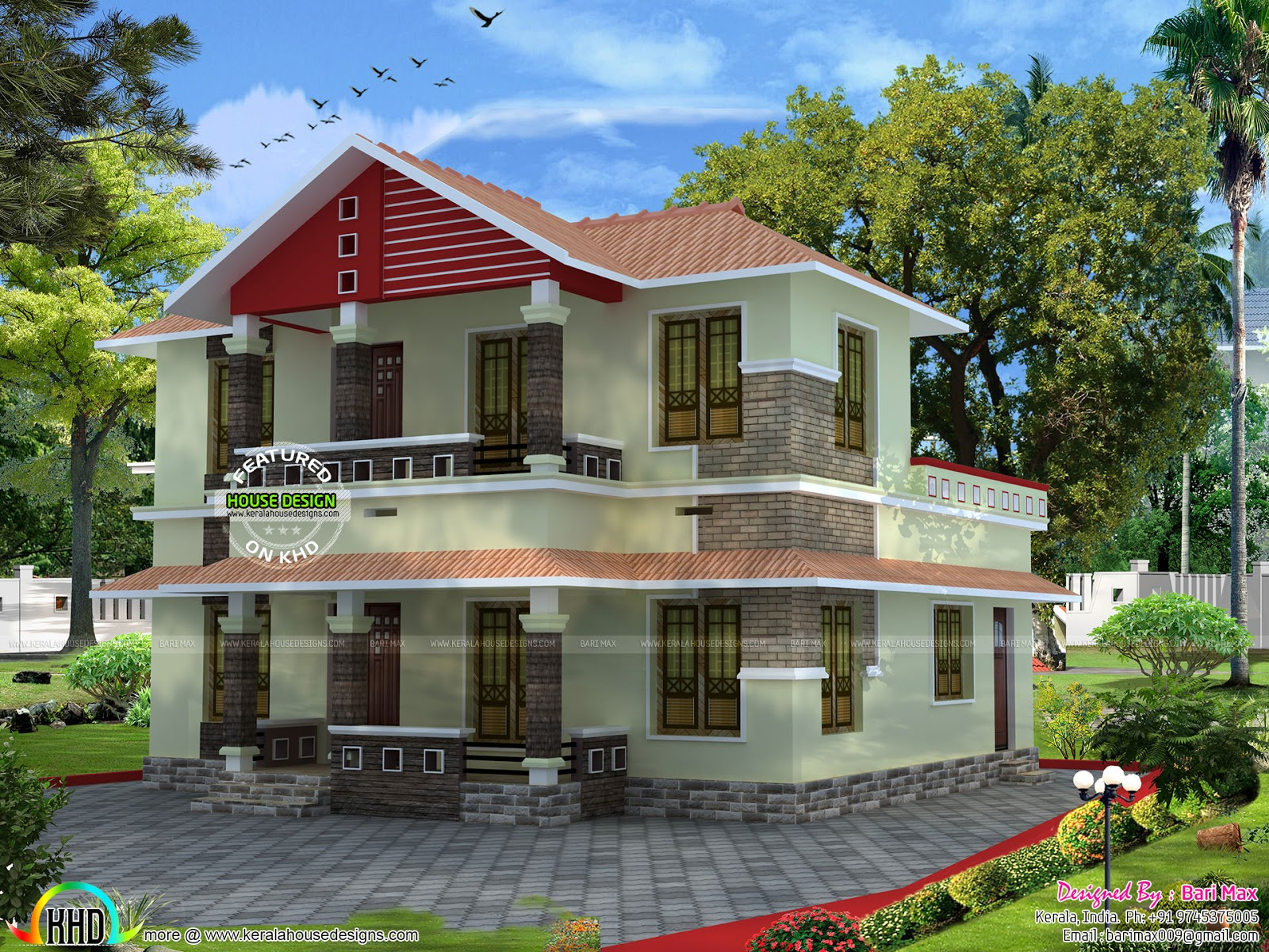 Low budget slop roof home kerala home design and floor plans Low budget house plans
