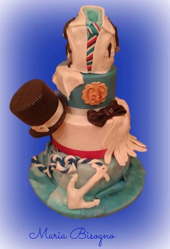 torta decorata in pasta di zucchero per un medico chic tifoso doc!!