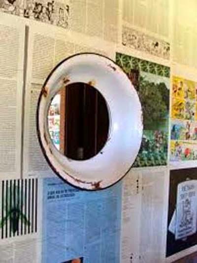 decorar cozinha velha:Ideias para decorar o banheiro com produtos recicláveis