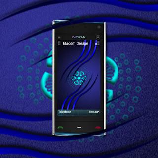 fond ecran abstrait nokia X6 idacom design