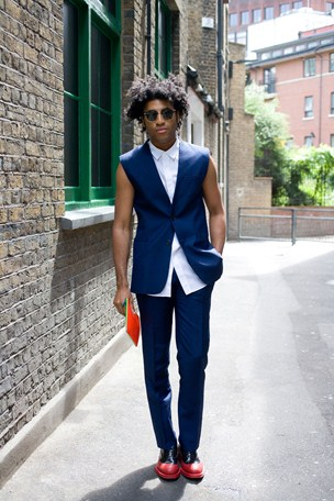 street style london collections men menswear sleeveless blazer