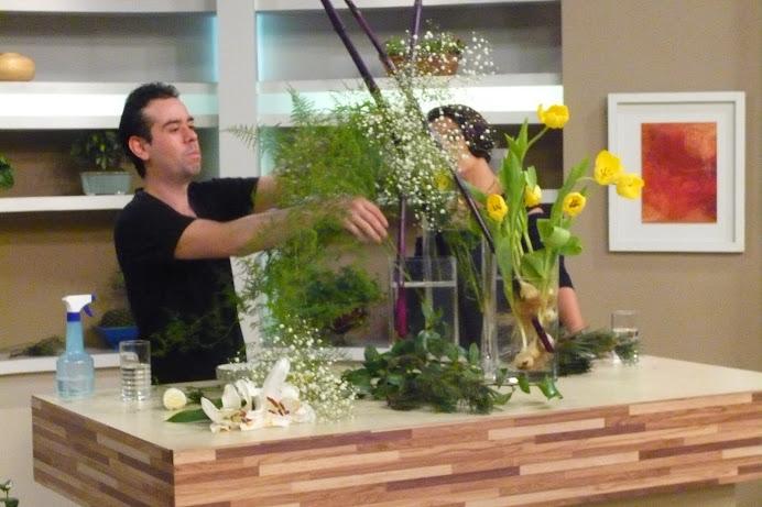 Ikebana de Casamento TV Gazeta no Mulheres