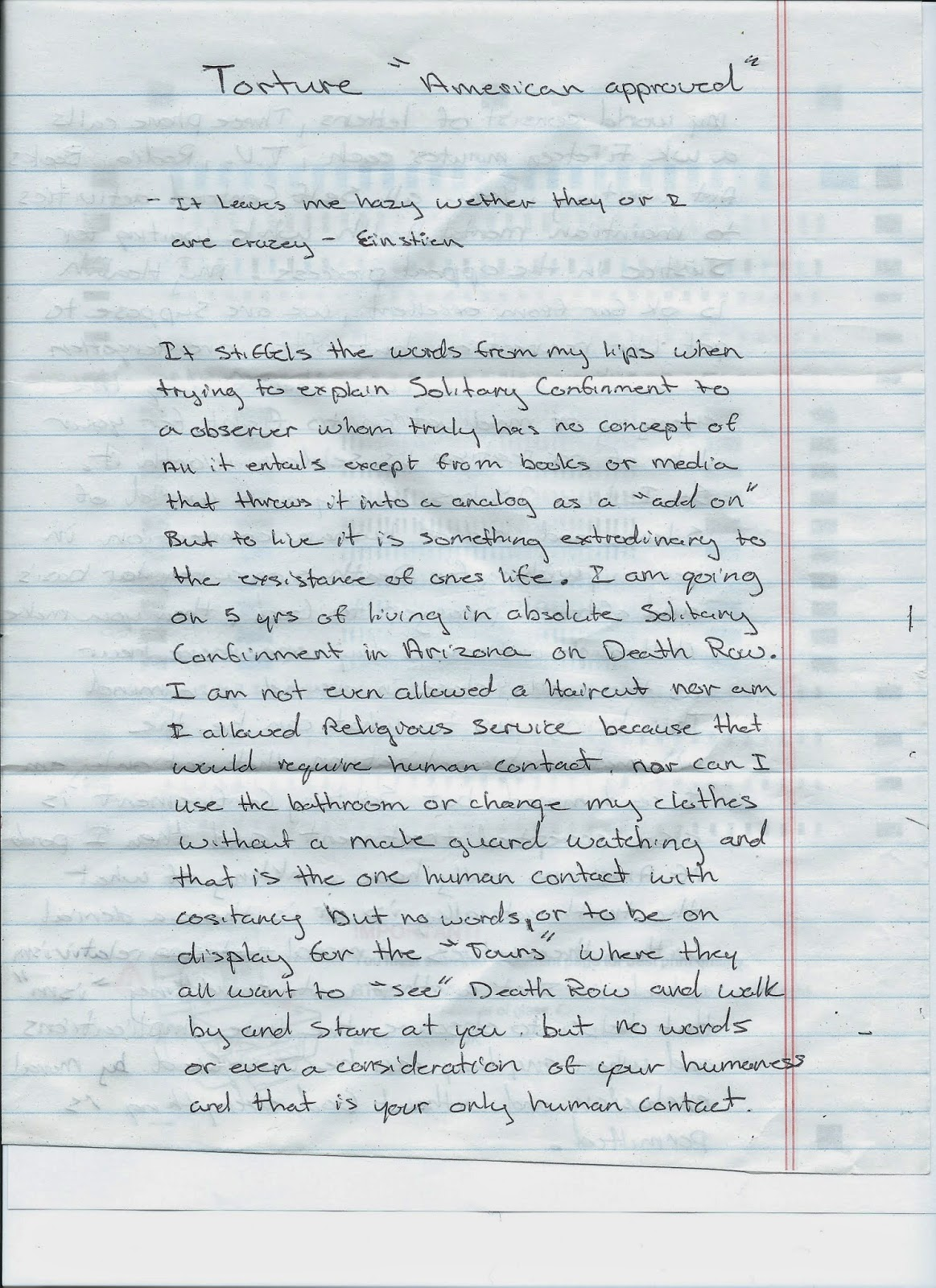 torture essay w condemned shawna forde arizona death row describes  w condemned shawna forde arizona death row describes shawna forde arizona death row describes solitary confinement