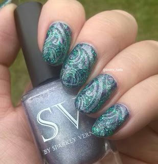 SV by Sparkly Vernis Blurple Ice Cubes and Apipila P31