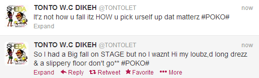 Tonto Dikeh replies haters over falling on stage at Kukere Concert