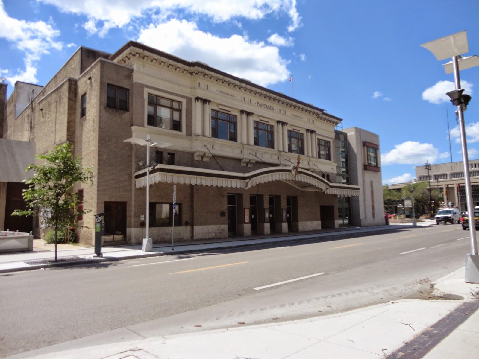 Exterior of Pantages Playhouse