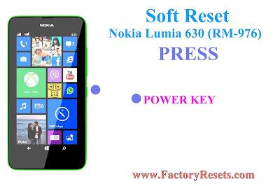 Soft Reset Nokia Lumia 630