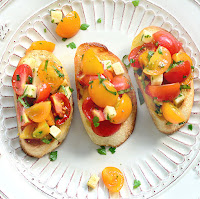 Cherry Tomato and Smoked Gouda Bruschetta