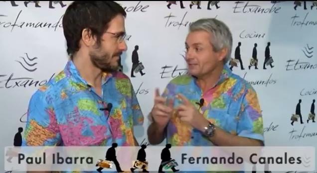 Fernando Canales y Paul Ibara en el primero de de los vídeos