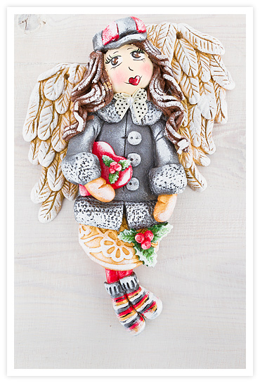 anioły z masy solnej, anioł z masy solnej, salt dough angel, figurki z masy solnej