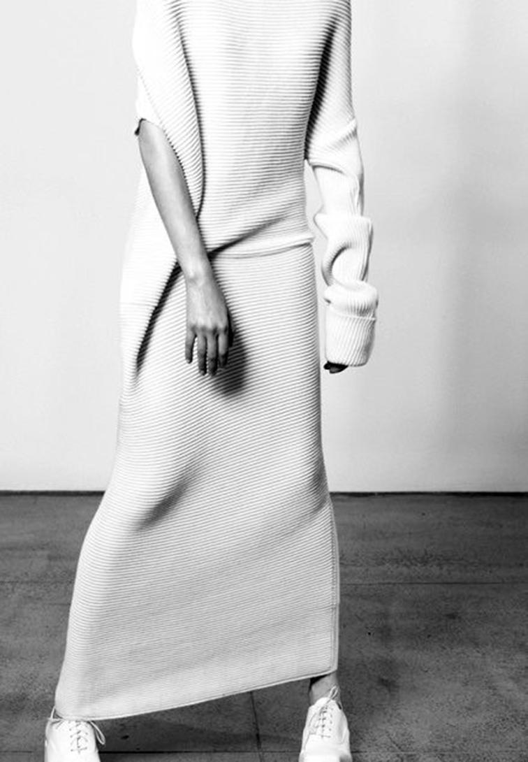 Asymetrical sweater dress