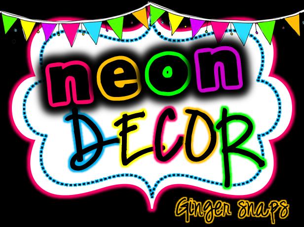 Neon Classroom Decor : Ginger snaps neon class decor