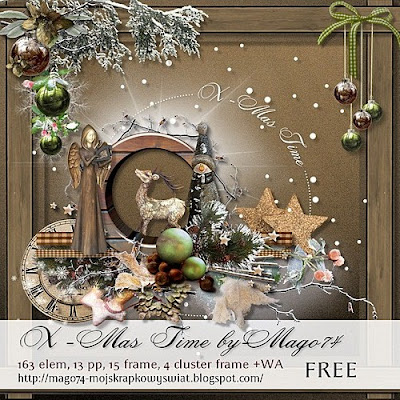 "Free scrapbook kit ""X-Mas Time"" by mago 74"