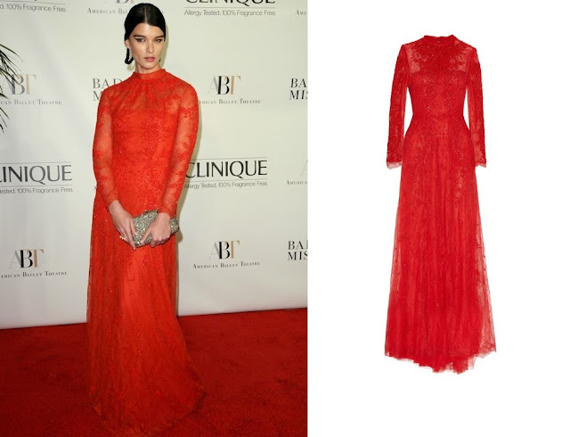 Crystal Renn in Valentino (Pre-Fall 2013) – American Ballet Theatre 2013 Opening Night Fall Gala