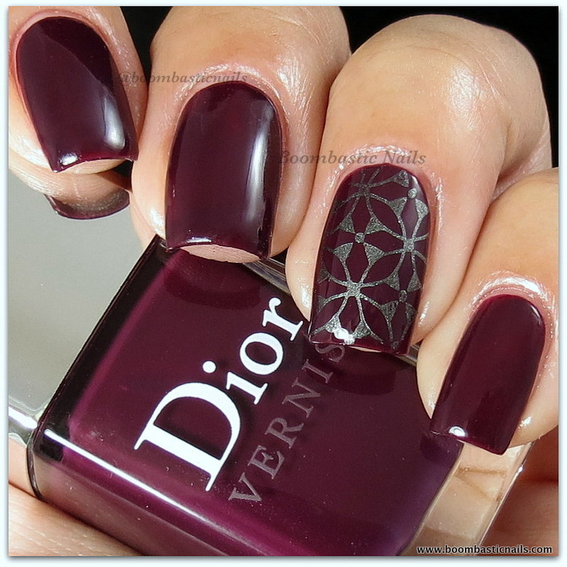 Boombastic Nails Dior Orchid Stamped