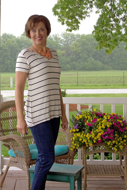 Briar T-shirt from a rayon knit from Fabric Mart