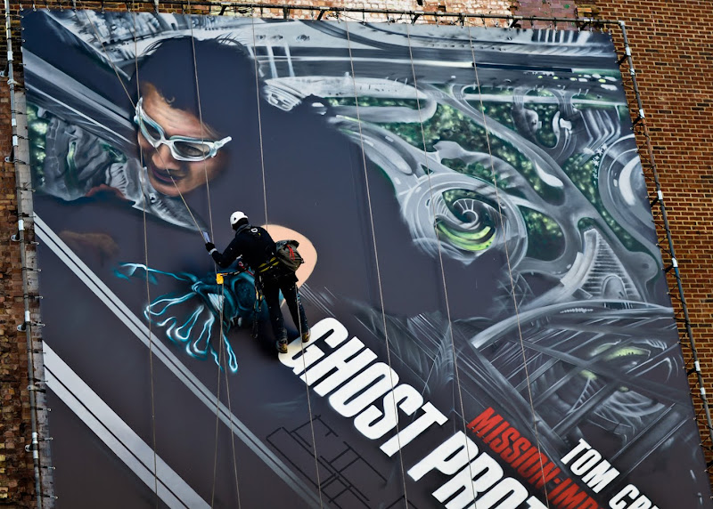 Giant Ghost Protocol wall mural London