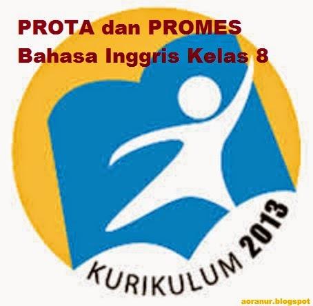 Download PROTA dan PROMES Bahasa Inggris Kelas 8 Kurikulum 2013