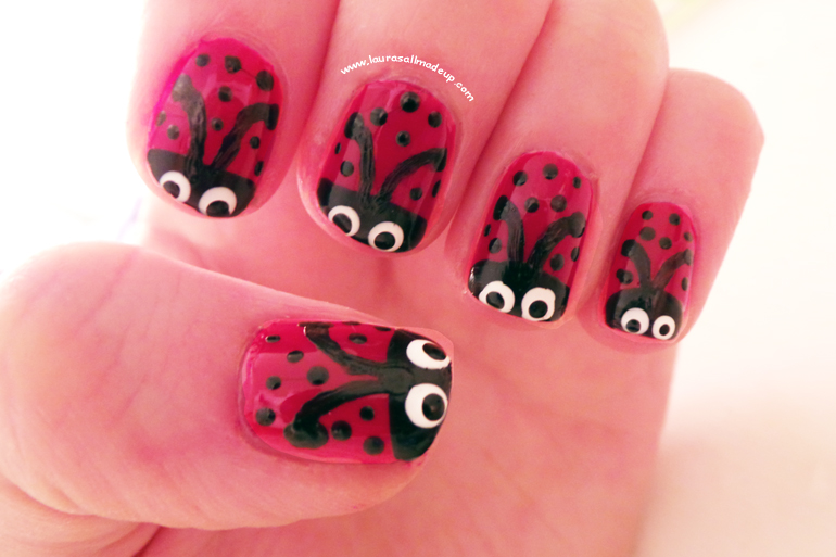 Ladybird Nail Art, NOTD, ladybird nails, nail art, nail designs
