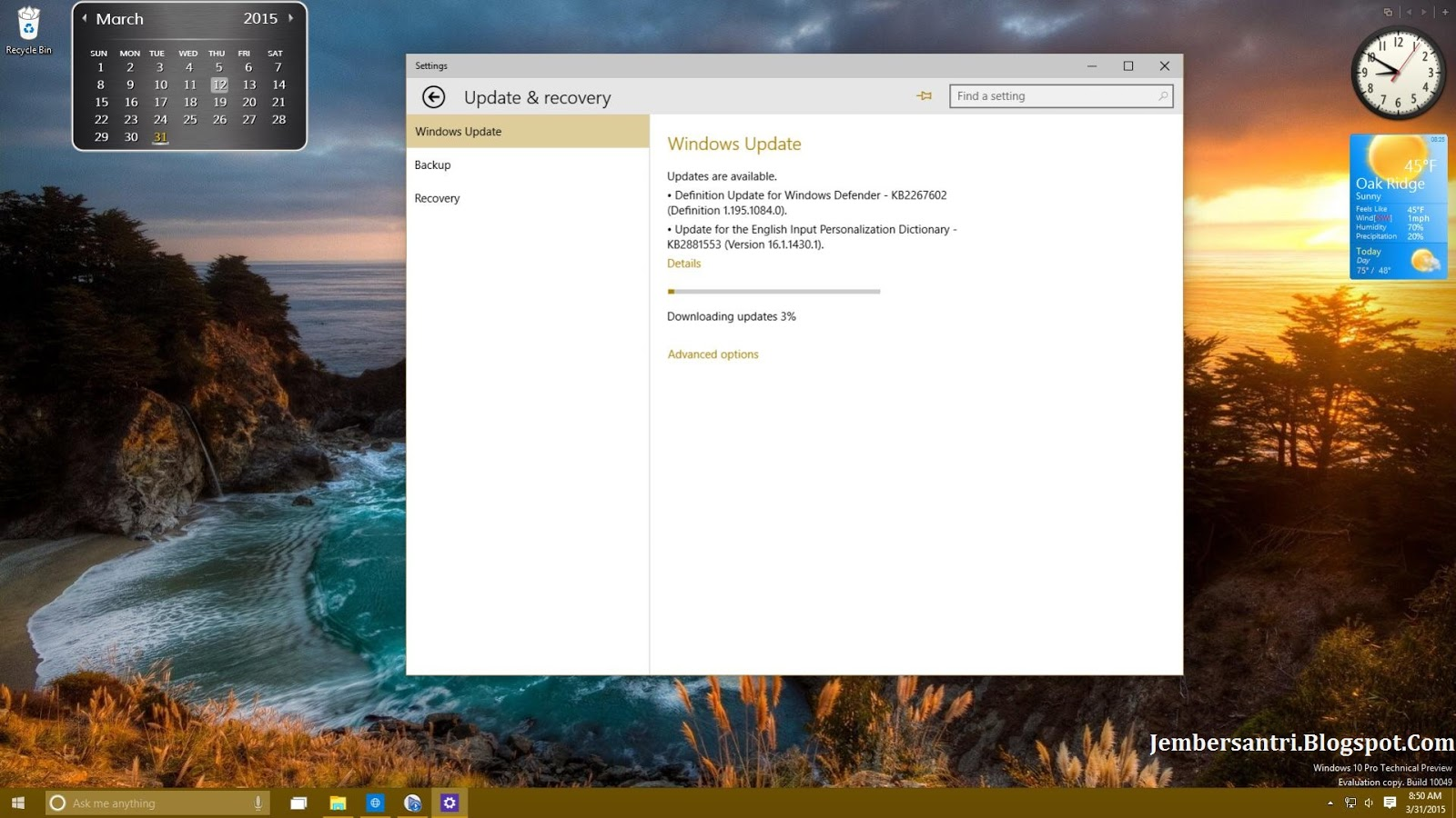 Windows 10 Pro Preview Build 10049 x86 x64 March 2015 screenshot 2 - http://jembersantri.blogspot.com