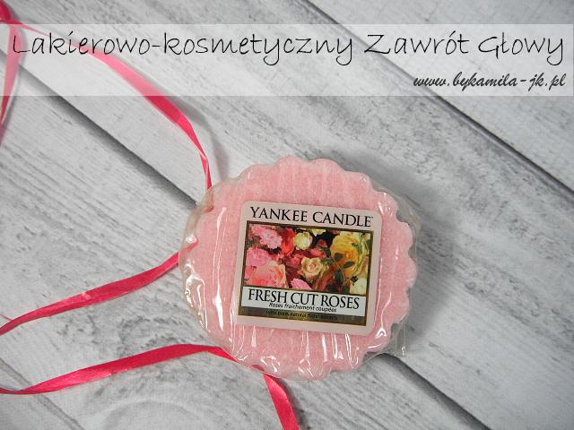 Wosk Yankee Candle Fresh Cut Roses różany zapach