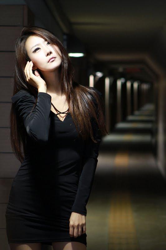 Park Hyun Sun Sexy  in All Black