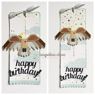 SVG Attic: Soaring Eagle with Angeline #svgattic #scrappyscrappy #birthday #eagle #card