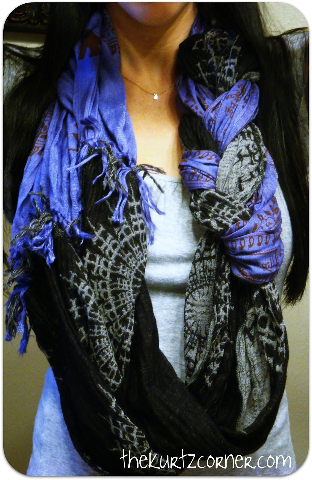 the kurtz corner no sew braided infinity scarf