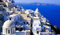 Остров Санторини , Греция .
