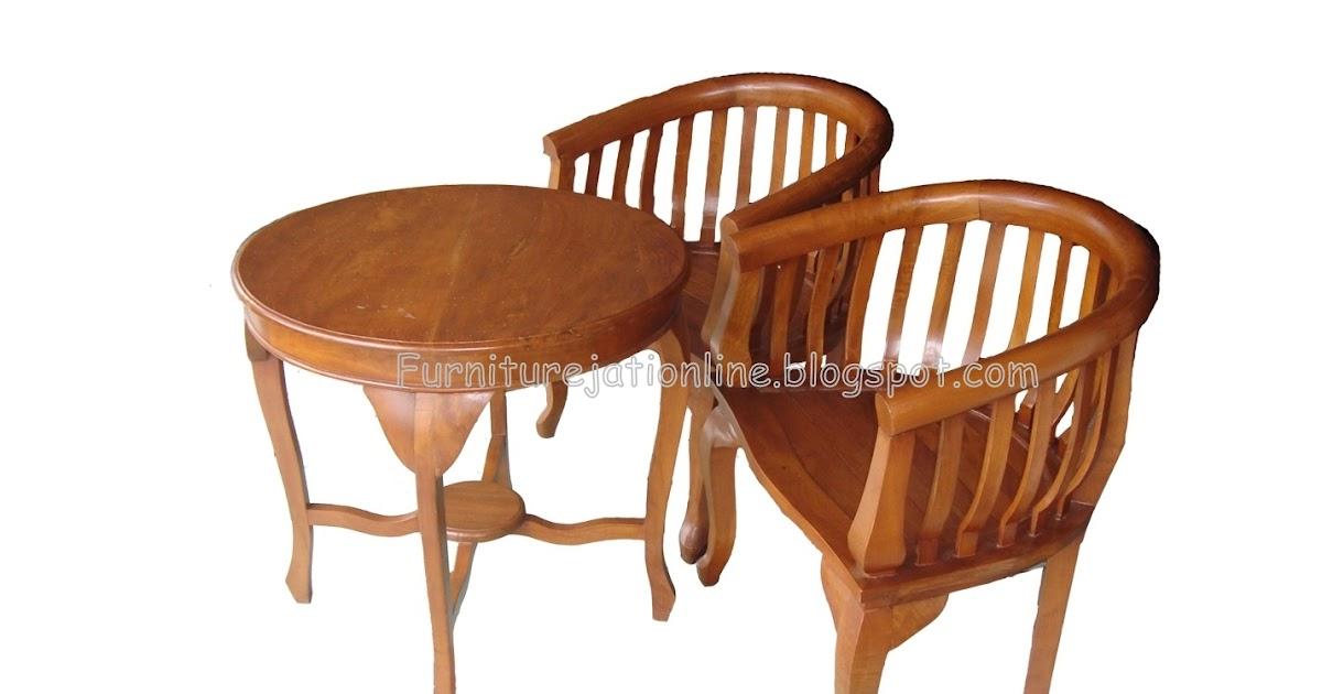 kursi teras minimalis betawi furniture jati