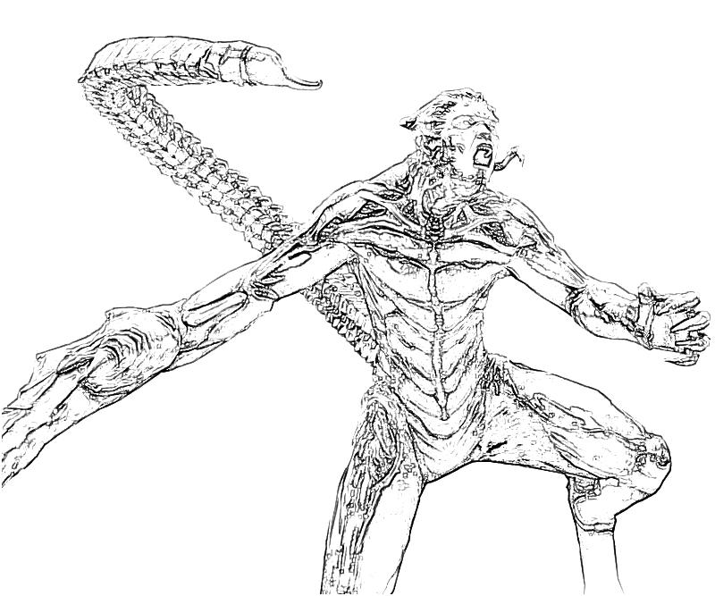 The amazing spider man scorpion weaknesses yumiko fujiwara for Scorpion coloring page