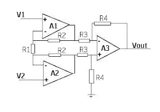instrumentation amplifier circuit diagram