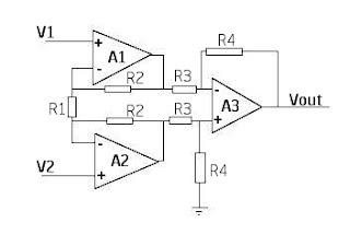 instrumentation amplifier circuit diagram