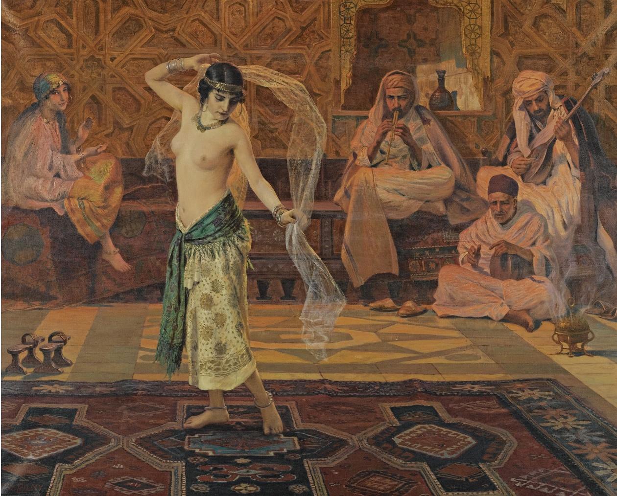 Erotic dance painting