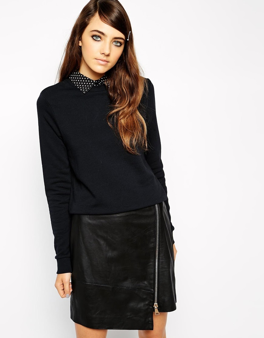 black sweater with collar