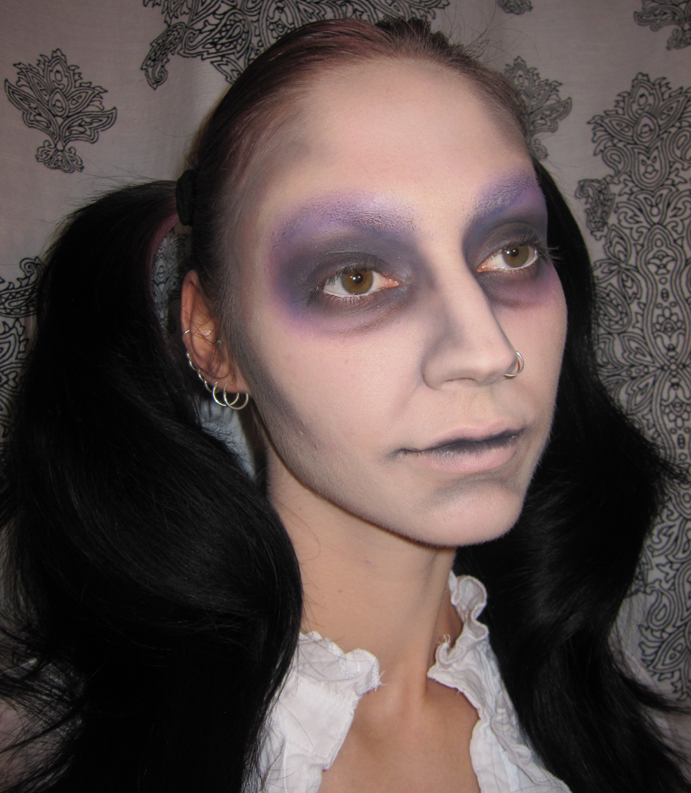 glitter is my crack: dead doll halloween costume makeup look with